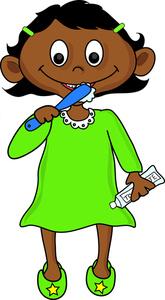 1352 Brushing Teeth free clipart.
