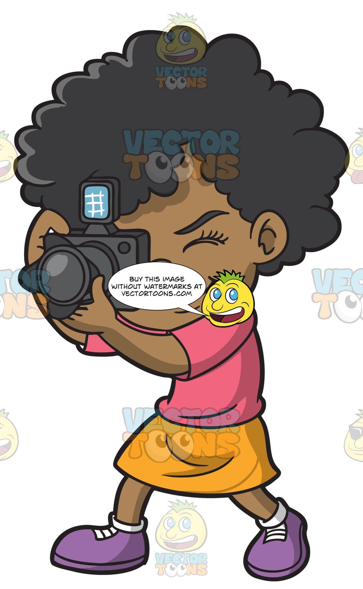 A Black Girl Taking Photos.