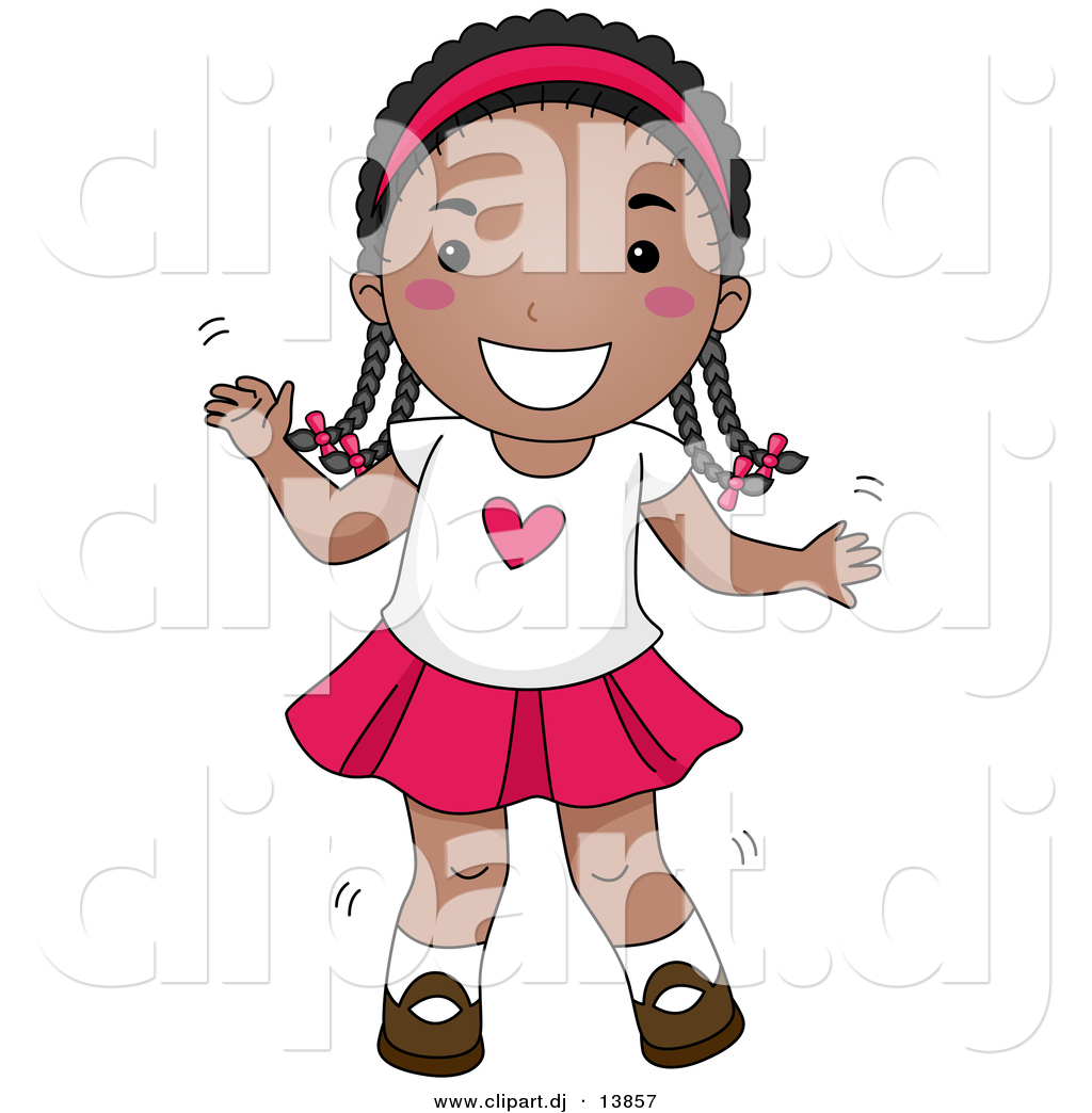 Cartoon black girl clipart.