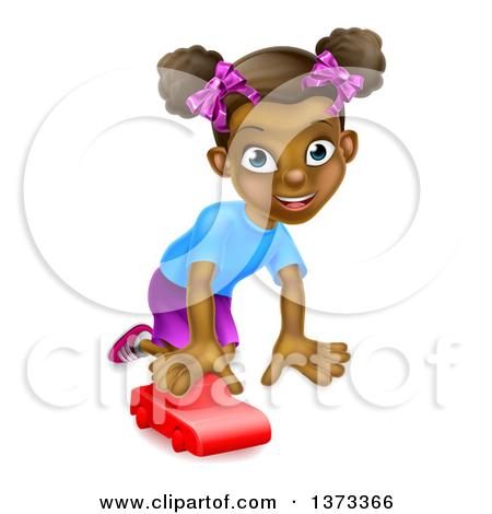 clipart of black girl #3