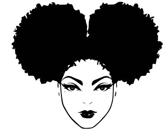 Afro clipart black woman face, Afro black woman face.