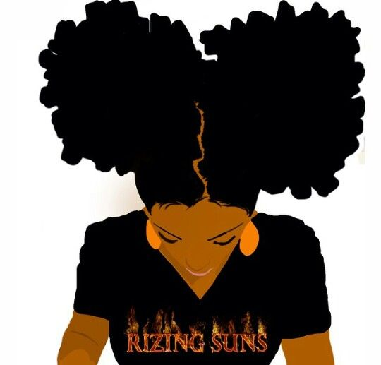 Natural Black Hair Clipart.