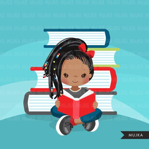 Reading clipart, school activity, homework, student black.