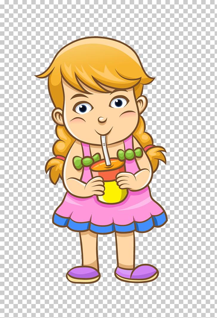 Orange juice Soft drink Strawberry juice, Girl drinking.