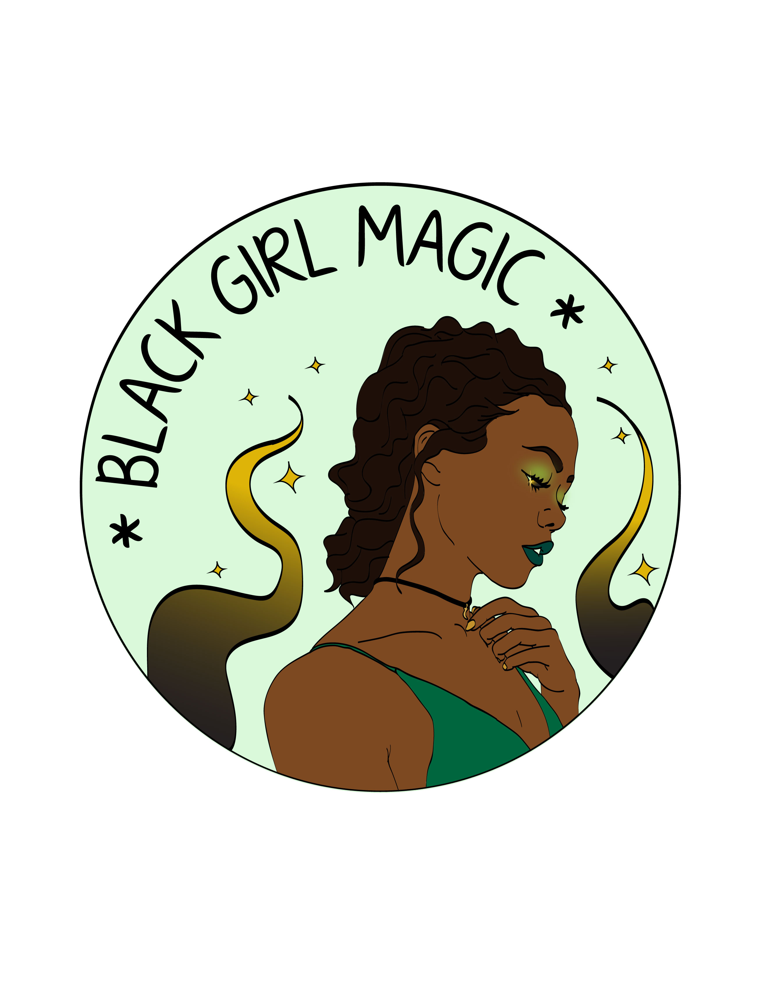 Black Girl Magic sold by Flower Morgue Illustration.
