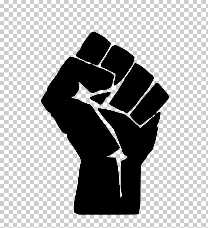 Black Power Raised Fist Black Panther Party African American.