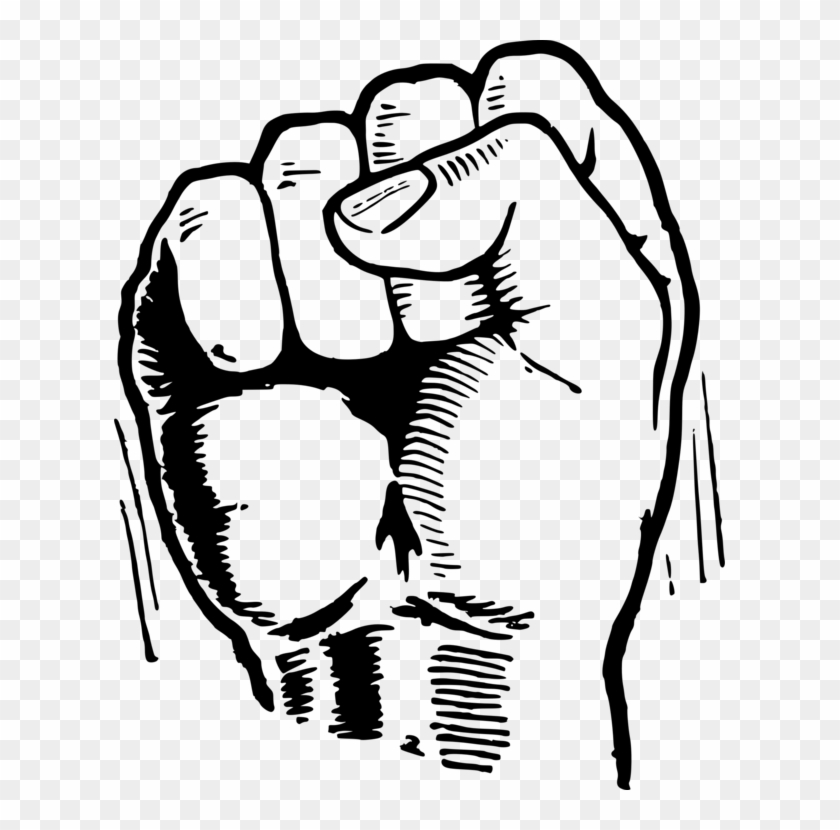 Black Power Fist Png.