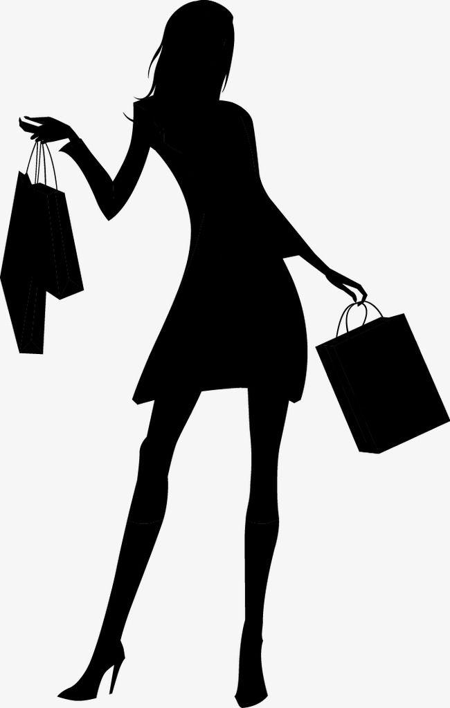 Fashion Shopping Girl Silhouette, Fashion, Shopping, Girls PNG and.