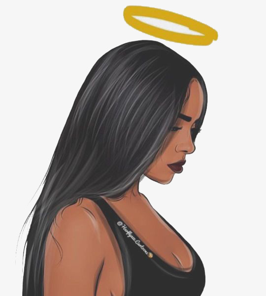 Black Girl, Angel, Black, Hair PNG Transparent Image and Clipart for.
