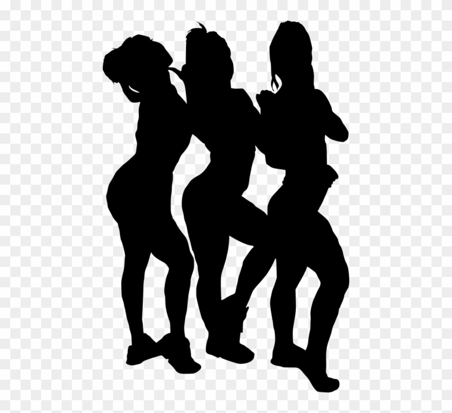 Free Png Girl Group Hoto Posing Silhouette Png Images.