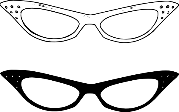 Black Glasses Clip Art.