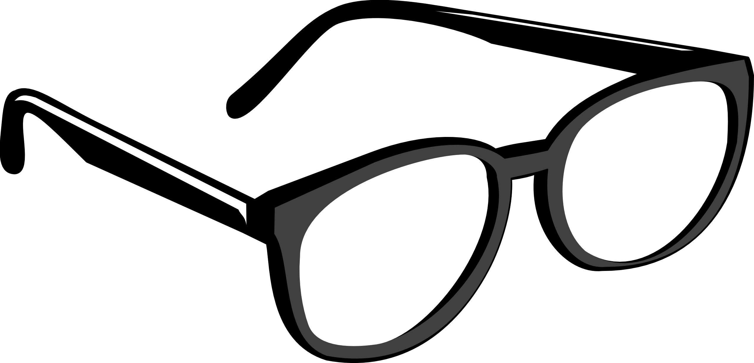Black glasses clipart.