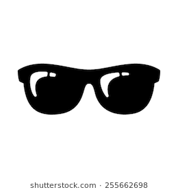 Cool Black Cartoon Sunglasses Eye Frames #69422.