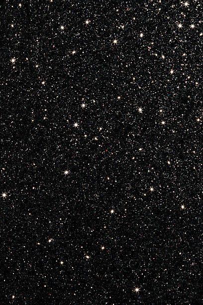 black glitter background.