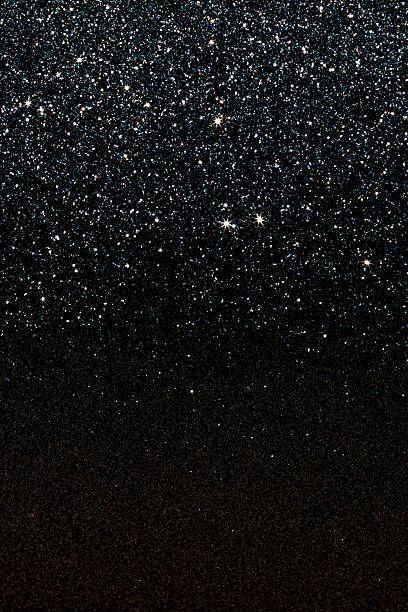 black glittering background.