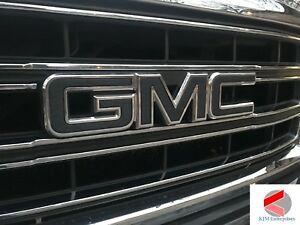 Details about GMC Sierra Emblem Overlay Decal CARBON BLACK Front & Rear.