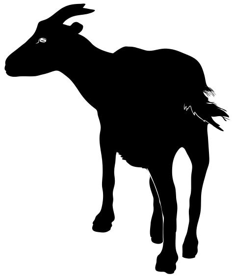 Black goat clipart.