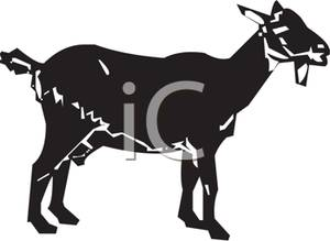 Goat Clipart Black And White.