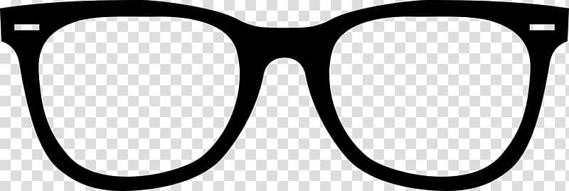 Aviator sunglasses , black frame glasses transparent.