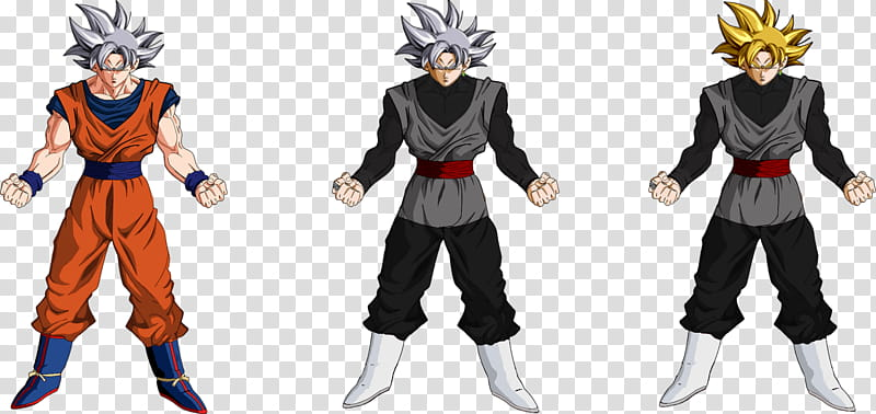Goku and Goku Black Ultra Instinct transparent background.