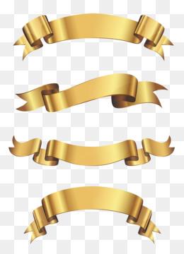 Gold Ribbon PNG.