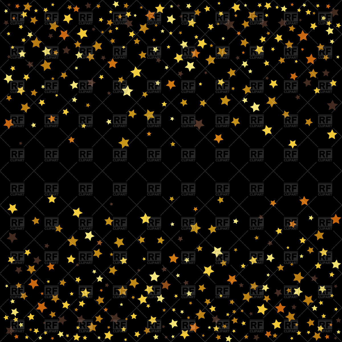 Gold star on black clipart.