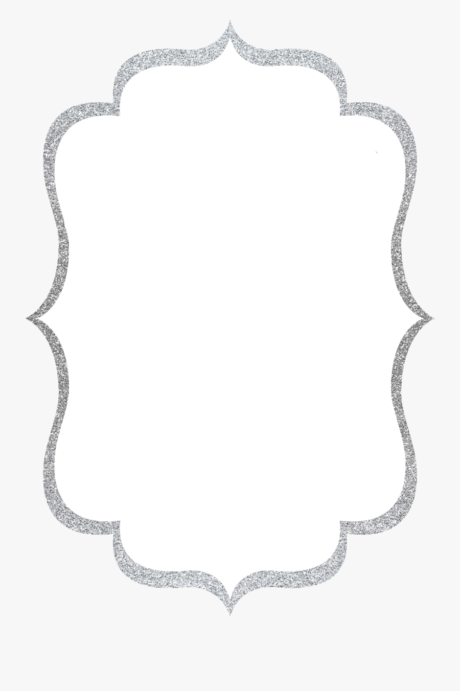 Silver Glitter Border Png , Free Transparent Clipart.