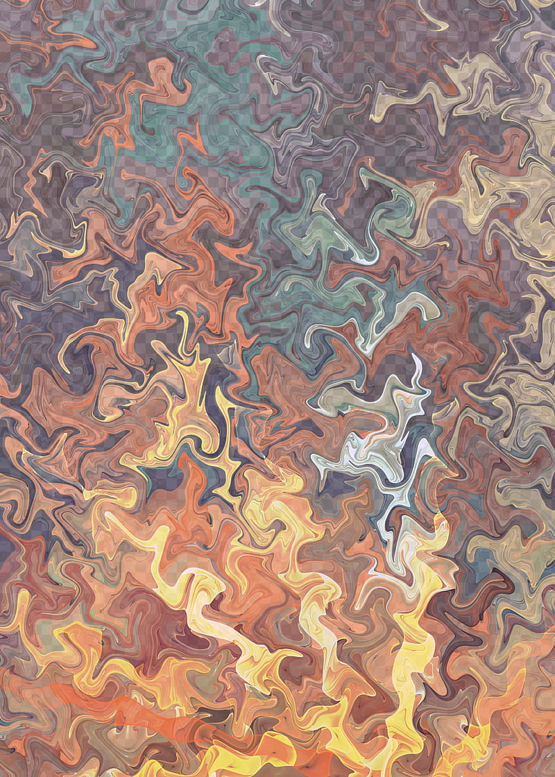 Fractal Gnarl, blue, black, and brown abstract artwork.