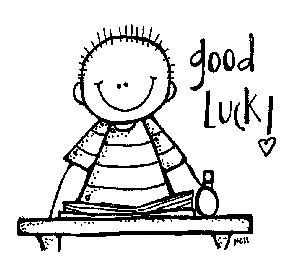 Good luck clipart black and white.