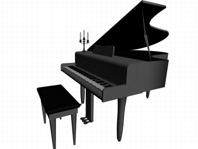 Grand piano clip art.