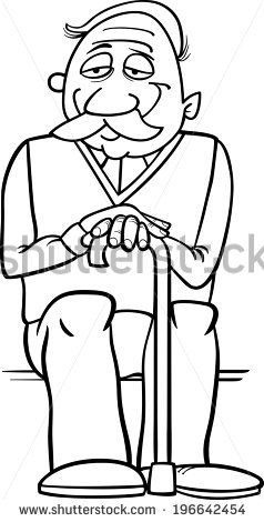 Grandfather clipart black and white 7 » Clipart Station.