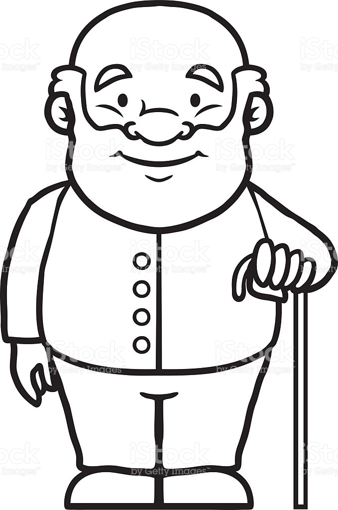 Grandfather clipart black and white 11 » Clipart Station.