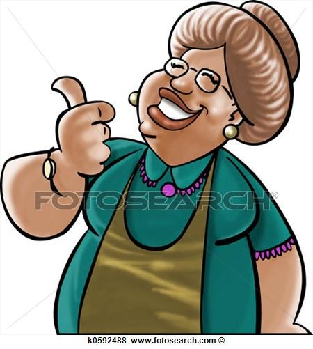Black Grandma Clipart.