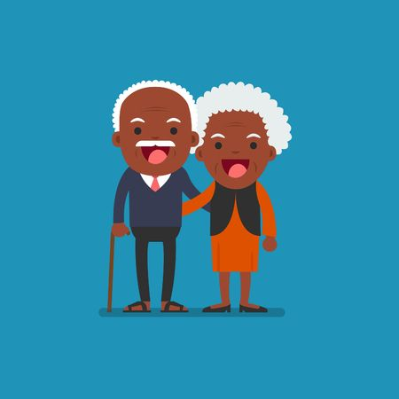 73 African American Senior Citizen Stock Vector Illustration And.