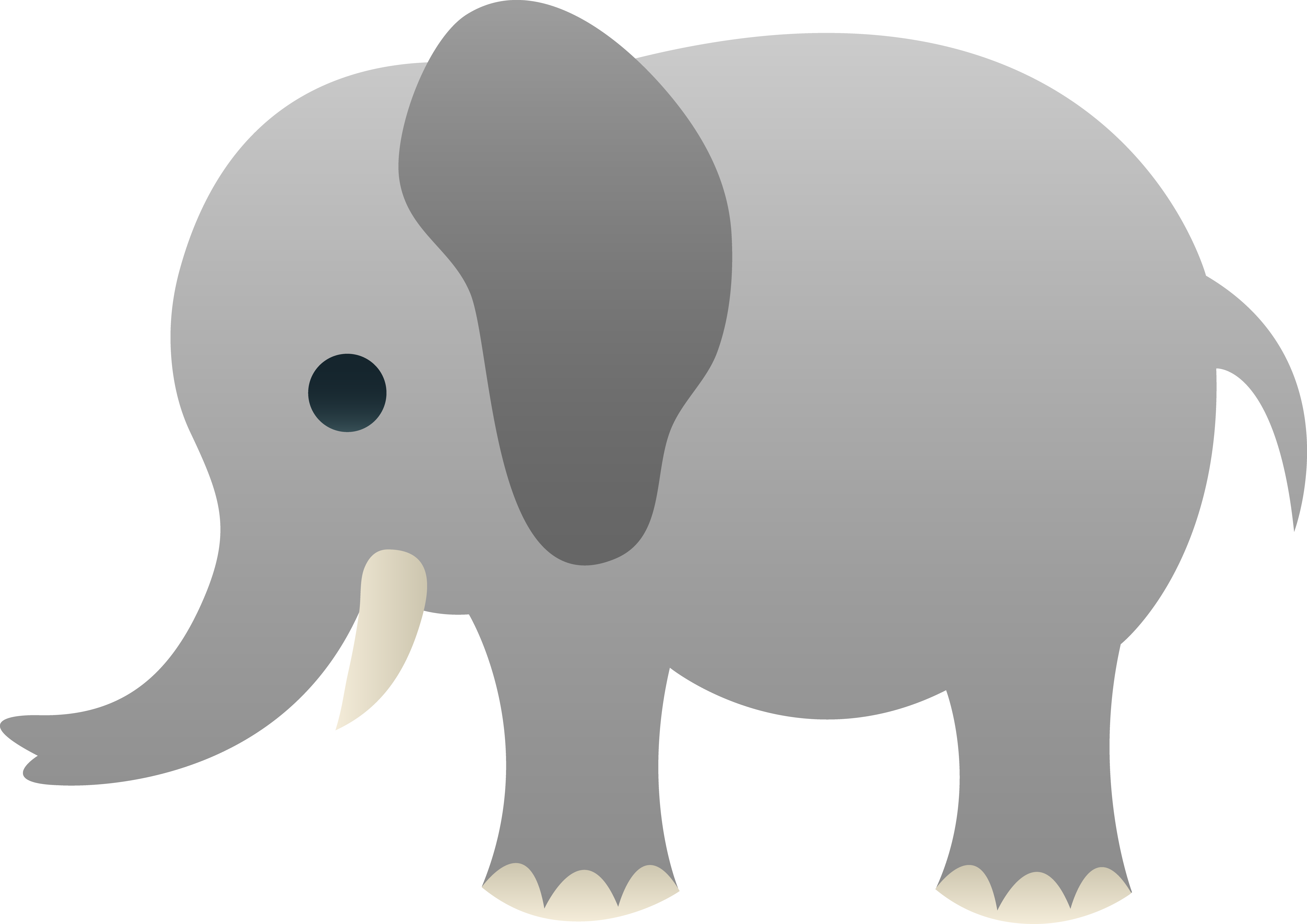 Black yellow elephant clipart - Clipground