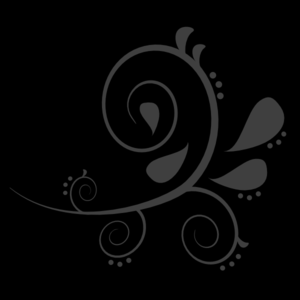 Black Grey Swirl 1 Clip Art at Clker.com.