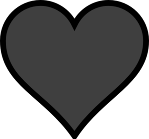 Grey Heart Black Outline Clip Art at Clker.com.