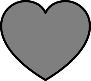 Solid Dark Gray Heart With Black Outline Clip Art at Clker.com.