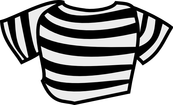 Black grey and white striped clipart.