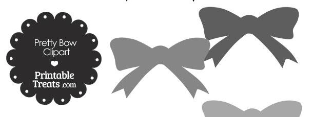 Grey Bow Clipart.