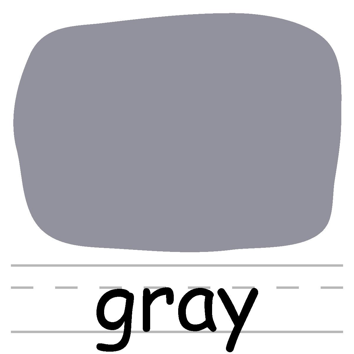 Color gray clipart.