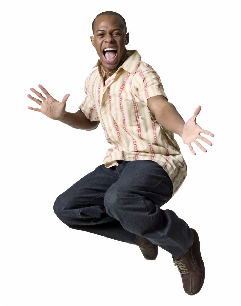 Black Man Jumping Png , Png Download.