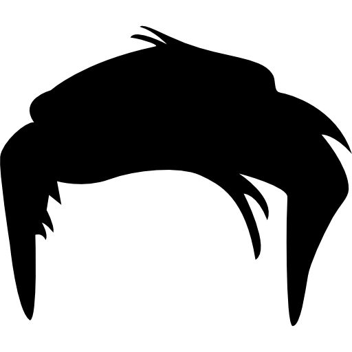 Collection of Black hair clipart.