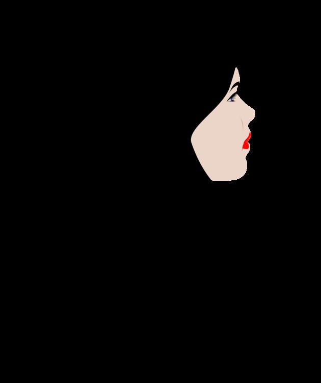 Art,Black Hair,Girl Vector Clipart.