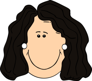 Clipart Girl With Black Hair.