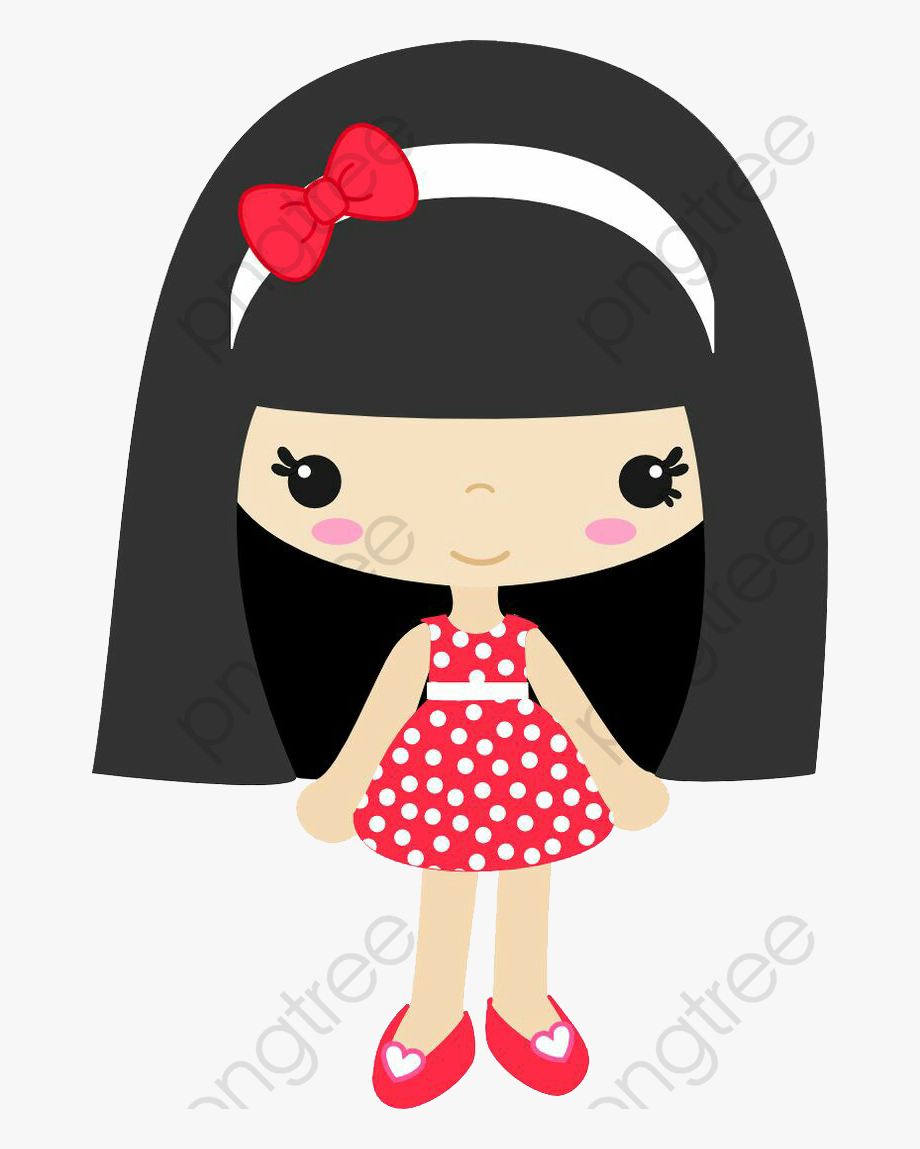 Little Girl Clipart Black Hair.