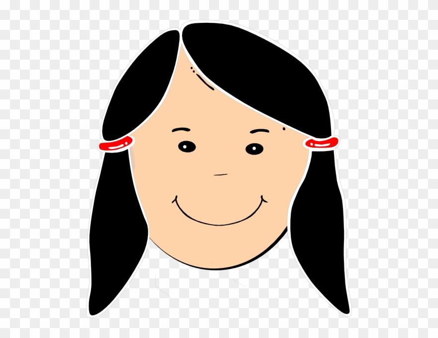 Cartoon Girl Black Hair Clipart (#116550).
