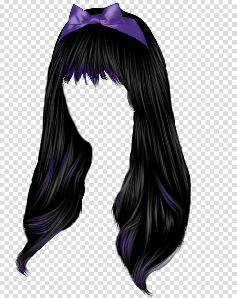 Black Hair PNG clipart images free download.