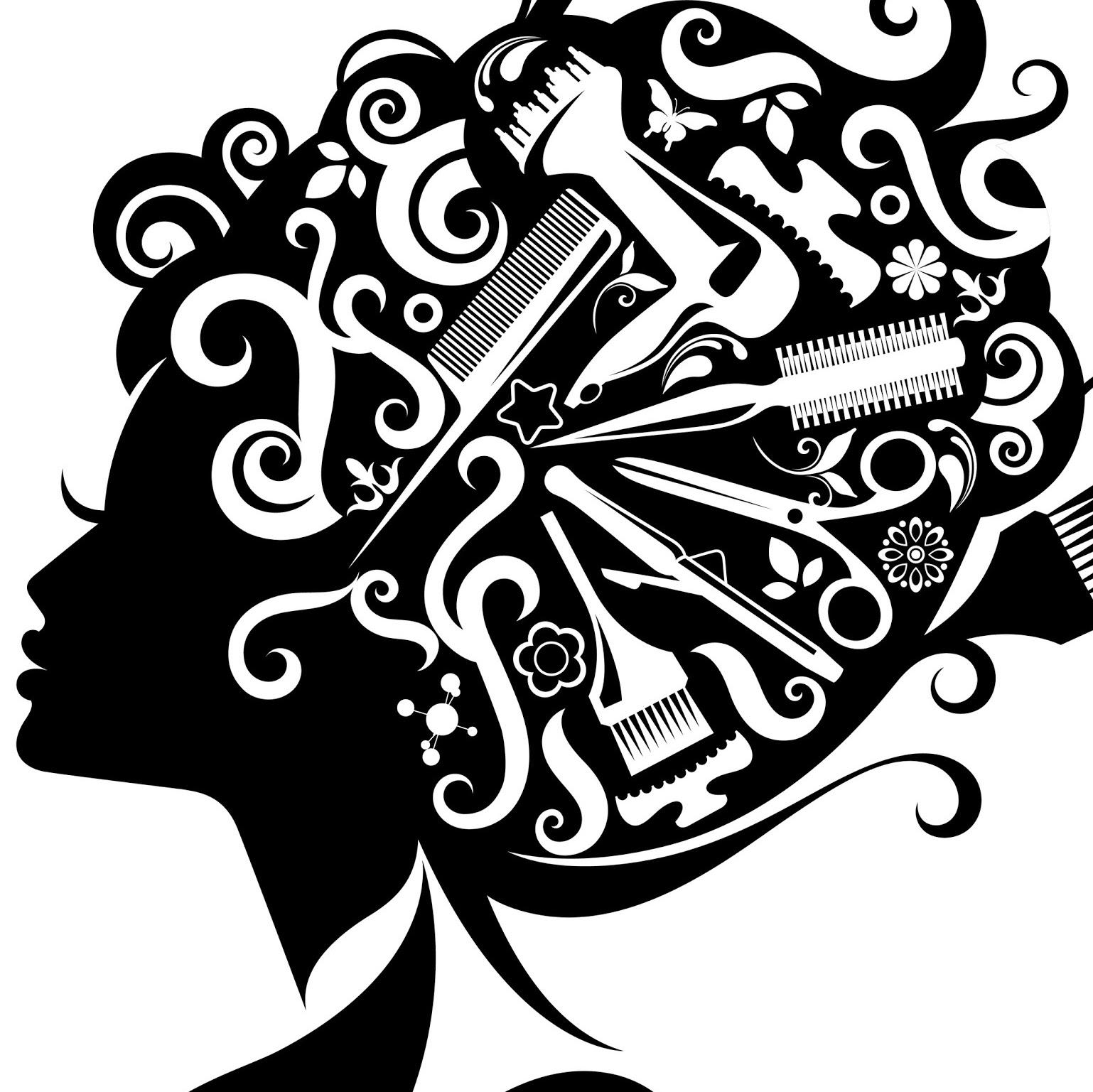 Black Hair Stylist Clipart.