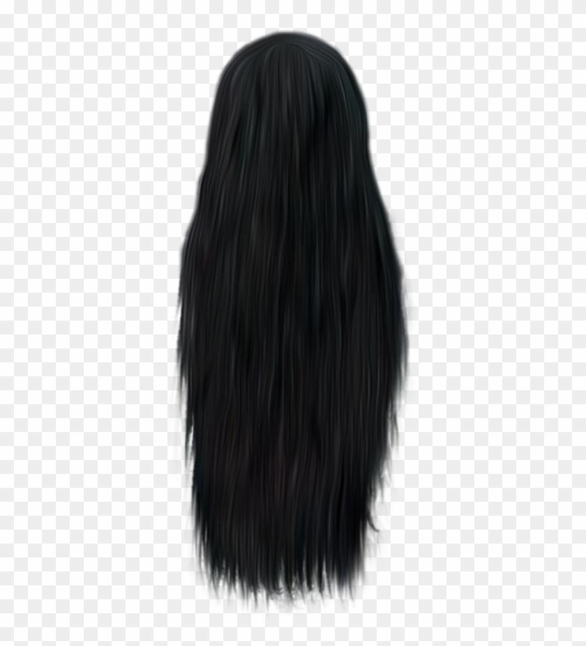 Black Hair Free Png Image.